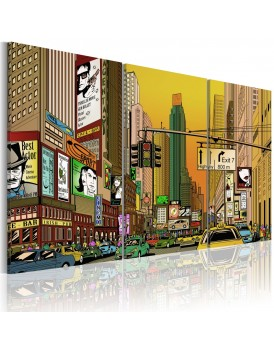 Schilderij - Cartoon NYC