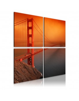Schilderij - San Francisco - Golden Gate Bridge