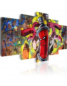 Schilderij - Angry spray can