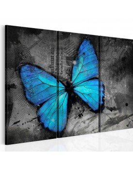 Schilderij - The study of butterfly - triptych