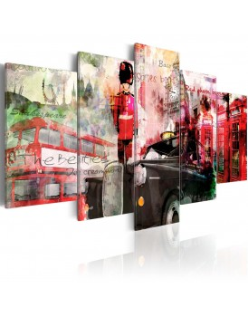Schilderij - Memories from London - 5 pieces