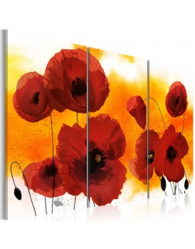 Schilderij - Sunny afternoon and poppies