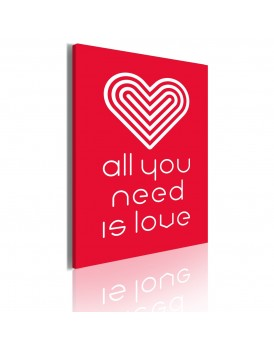 Schilderij - All you need is love