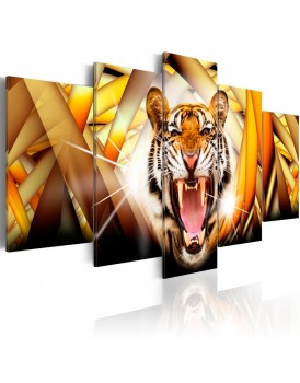 Schilderij - Energy of Tiger