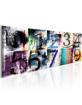 Schilderij -  Colourful Numbers
