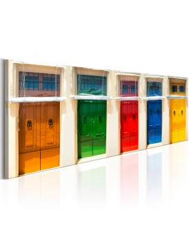 Schilderij - Colourful Doors