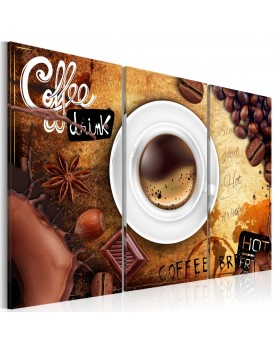 Schilderij - Cup of coffee