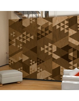 Fotobehang - Brown patchwork
