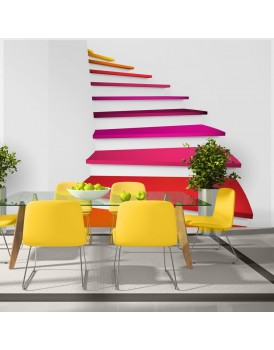 Fotobehang - Colorful stairs
