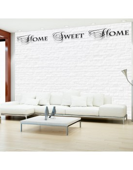 Fotobehang - Home, sweet home - white wall