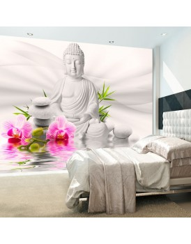 Fotobehang - Buddha and Orchids