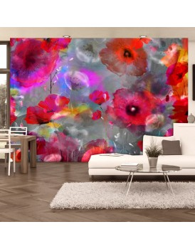 Fotobehang - Painted Poppies