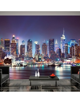 Fotobehang - Night in New York City