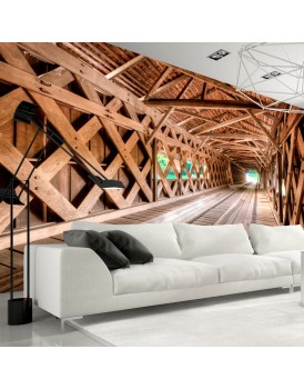 Fotobehang - Wooden Bridge
