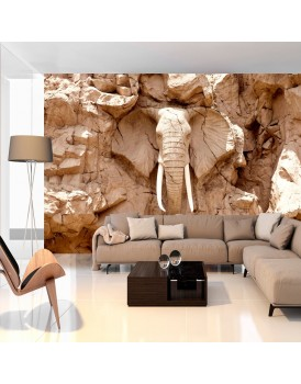 Fotobehang - Stone Elephant (South Africa)