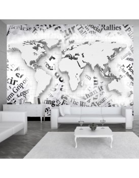 Fotobehang - The world of newspapers