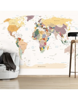 Fotobehang - World Map