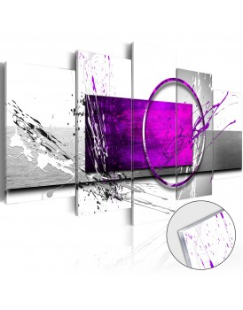 Afbeelding op acrylglas - Purple Expression [Glass]