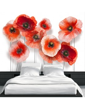 Fotobehang - Nine poppies