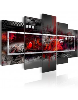 Schilderij - A grey vision with red accents